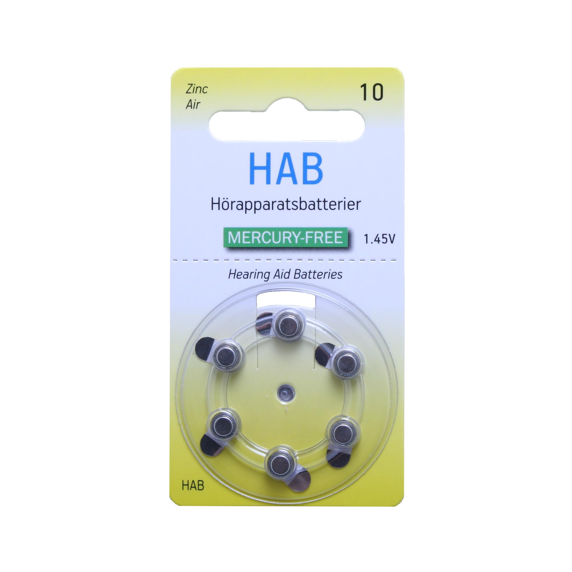 HAB A10 MF – Hörapparatsbatteri