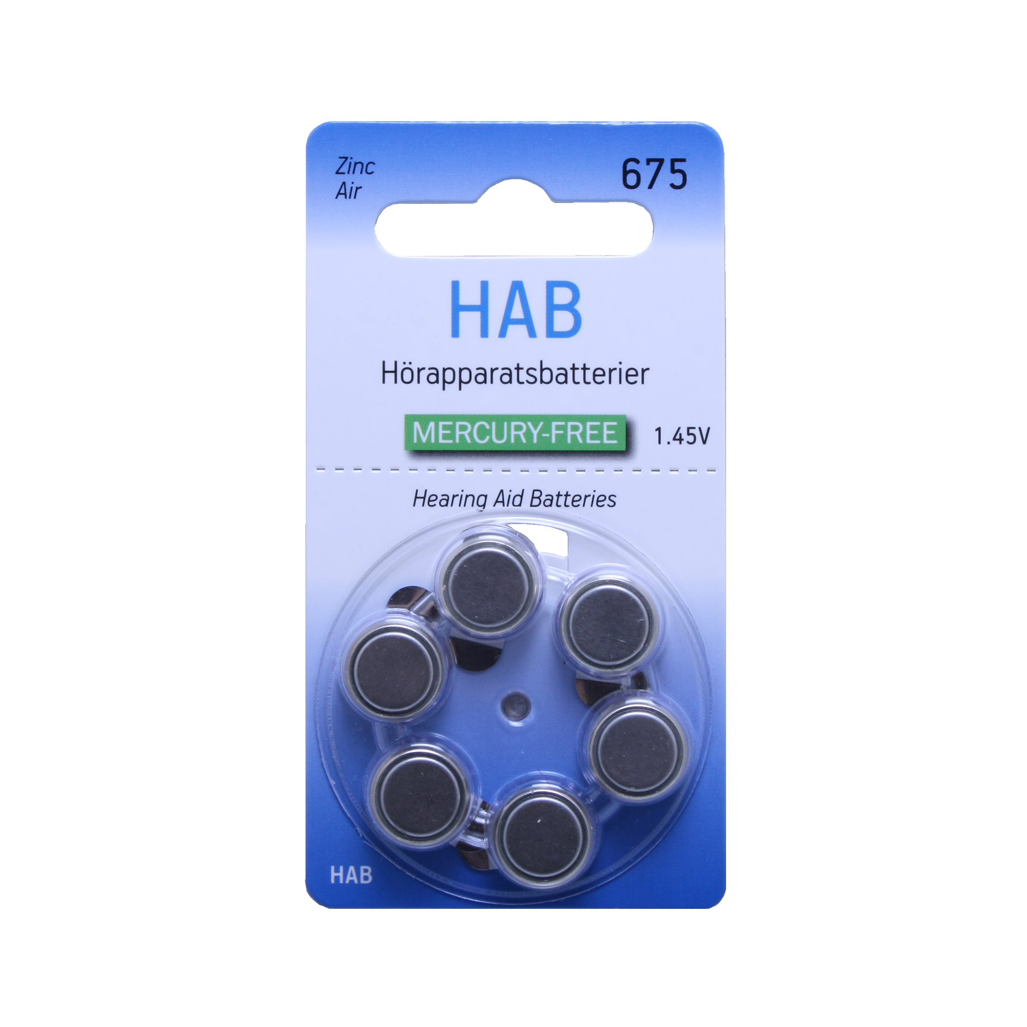 HAB A675 MF – Hörapparatsbatteri