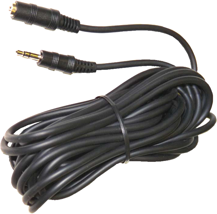 Audiosladd 3,5 mm hane-hona (6m)