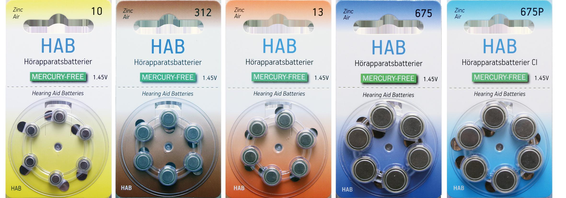 Tjänsten upphört – Hörapparatsbatterier för barn